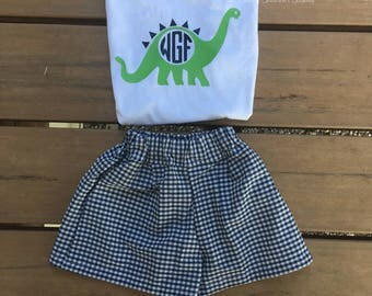 Boy's Personalized Dinosaur Outfit