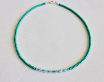 Swavroski Crystal Seed Bead Necklace