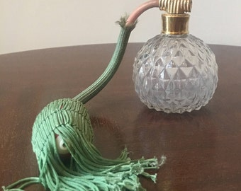 Vintage perfume bottle with an atomizer