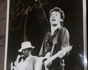 Bruce Springsteen Original Photo Signed Autographed taken in 1978 signed in 1992