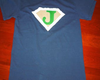 Superhero Tshirt (any initial)