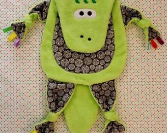 Sensory Snuggle Blankie - Crocy Crocodile