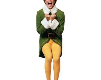 Excited Buddy The Elf Life-Size Cardboard Cutout