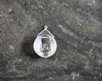 Unique Healing Clear Quartz with sterling silver (Jewelry that is Handmade in Canada)