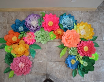 Mexican Fiesta Paper Flowers