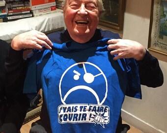 """T-shirt """"J'vais te faire courir"""" homme"""