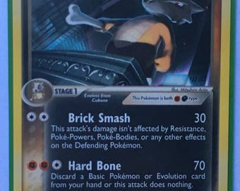 Pokemon Card Dark Marowak Rare 7/109
