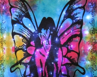 Butterfly Women Tapestry with LED Lights