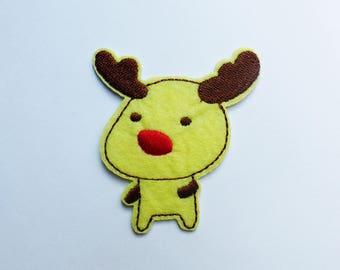 fusible patch, badge * reindeer, elk * 6.4 cm
