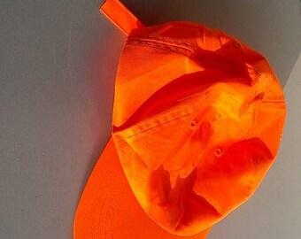 Neon orange cap