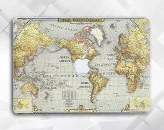 The World Map Macbook Pro Case Laptop Case Hard Case Macbook Air case Marble Macbook 12 Macbook Air 13 Macbook Pro 13 Macbook Pro 15