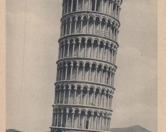 Vintage Leaning Tower of Pisa Postcard, Campanile, Tower of Pisa, Ephemera, Reproduction Postcard, Foreign Postcard, Italian Postcard, Italy