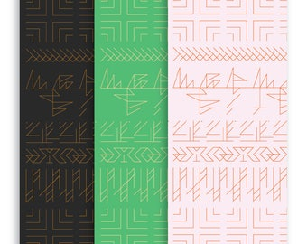 Gift Wrap—Contemporary, Geometric Design
