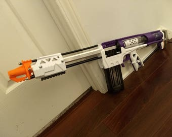 Nerf Caliburn Homemade Blaster r2 - Mag-Fed Pump-Action - Assembled/Tested