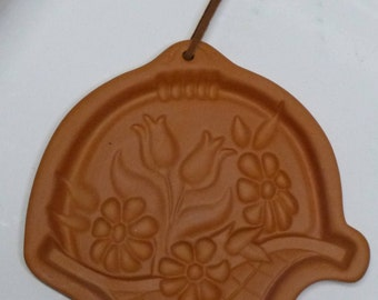 Fox Run TERRA COTTA COOKIE Mold Flower Basket