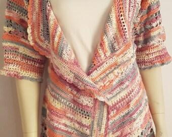 1  Hand crocheted sweatshirt