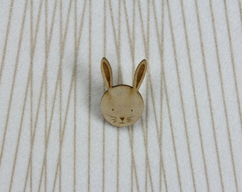 Bunny Brooch | Wooden Brooch | Easter