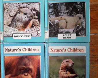 Vintage children's books, Nature's Children, set of four