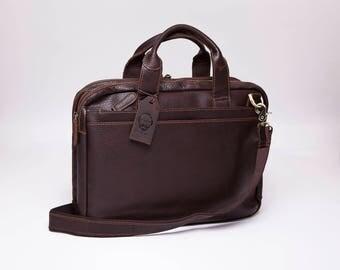 Leather Laptop Bag, Leather Messenger Bag, Messenger Bag, Laptop Bag (On Sale)