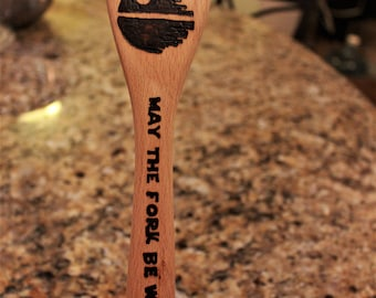 Punny woodburned spoons, perfect house warming gifts, anniversaries, geek gift, funny gift, serving spoons, set of 2