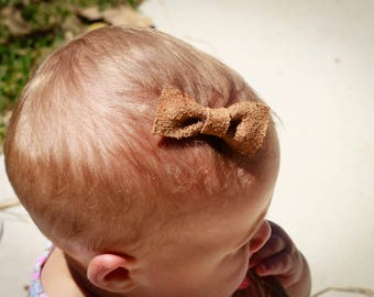 Soft Suede Bow with Clip