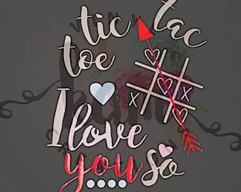 Tic Tac Toe I Love You So Kids Shirt