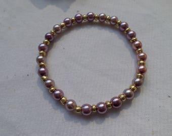 Czech Glass Pearl Bracelet