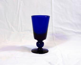 Bristol Blue Glass Victoria Goblet