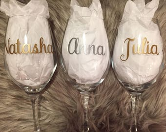 Wine Glass Decal Etsy - Wine glass custom vinyl stickers