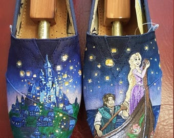 Tangled Hand painted TOMS