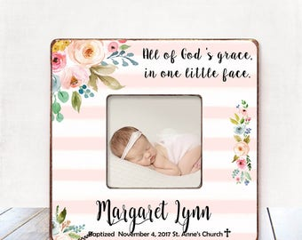 Baptism Gift GIRL Christening Gift GIRL Personalized Picture Frame Baptism Gift for Goddaughter Gift Goddaughter Baptism Gift Christening 37