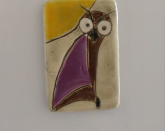 Hand painted ceramic magnet