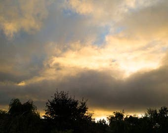 Fiery Sky (High Quality Digital Photograph)