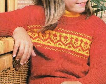 Child's Jumper, Knitting Pattern, Instant Download.