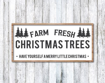 Christmas Tree Farm SVG, Christmas Tree Farm Sign, Magnolia Farms Christmas SVG, Modern Farmhouse, Joanna Gaines, Print, Fixer Upper Vector