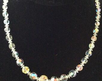 SIngle Strand Crystal Necklace