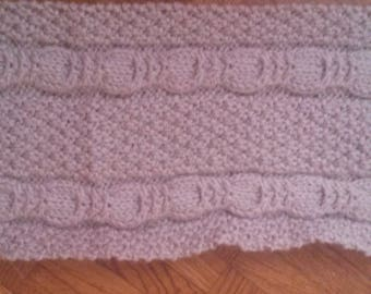 handmade scarf Ecru 6/12 months, (I can make it in other sizes and/or color)