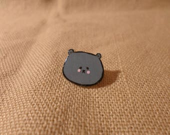Small Pin, Kawaii Grey Bear, Grey Bear Pin, Cute Bear, Adorable Bear, TIny Pin, Bear Brooch, Cute Brooch, Small bear, Kawaii Animal Pin