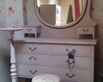 Handpainted antique Edwardian dressing table...