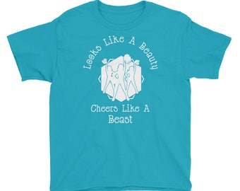 Girl's Cheer Shirt / Cheer T-Shirt / Girl's Cheerleader Shirt / Cheerleader Shirt / Team Shirt / Cheerleading Shirt / Cheer Tee