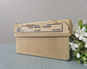 Vintage Whiting & Davis Co Mesh Bags . Flapper Style Purse . Mesh Bag . Metal Anode . Heart Charm . History . Unique . Fashion