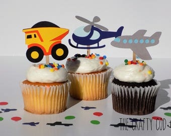 Vehicle Food/Cupcake Toppers