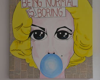 Wall decoration - Being normal is boring