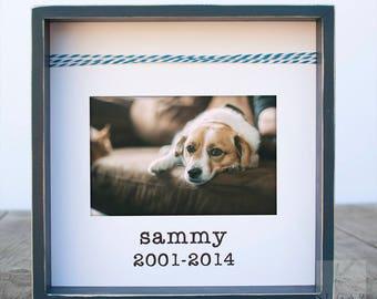 Dog Memorial Gift Pet Loss Gift Pet Sympathy Frame Personalized Pet Gift Pet Frame Dog Frame Loss of Pet Gift Loss of Dog Pet Bereavement