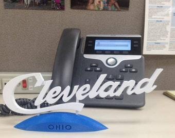 Cleveland Script Desk Art