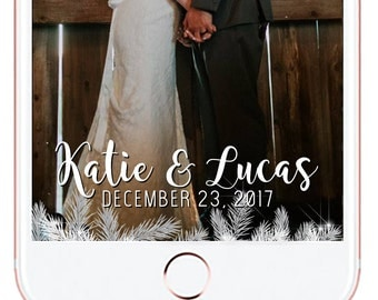Christmas Wedding Snapchat Geofilter #23