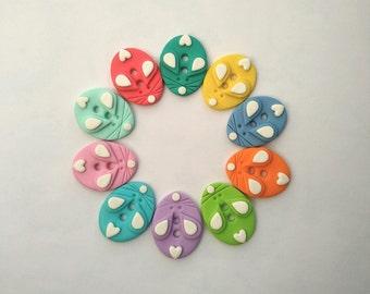 Buttons Cute buttons set Decorative buttons Novelty buttons Big buttons Unique buttons Cute mouse buttons Handmade polymer clay buttons