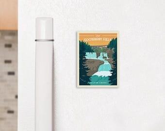 """Gooseberry Falls Fridge Magnet 2.5"""" x 3.5"""""""