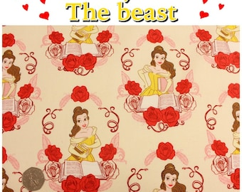 Beauty and The Beast 85100210 Belle Disney Princess Licensed High Quality 100% Cotton Patchwork/ Dress Fabric