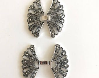 Metal Butterfly Closure-Silver Color